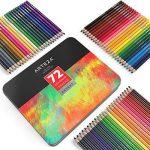 Arteza Ensemble 72 Crayons De Couleur Qualité Professionnelle Pour Artistes Mines Résistantes En Boite Métal de la marque ARTEZA® image 1 produit