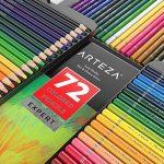 Arteza Ensemble 72 Crayons De Couleur Qualité Professionnelle Pour Artistes Mines Résistantes En Boite Métal de la marque ARTEZA® image 2 produit
