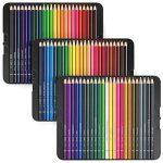 Arteza Ensemble 72 Crayons De Couleur Qualité Professionnelle Pour Artistes Mines Résistantes En Boite Métal de la marque ARTEZA® image 3 produit