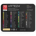 Arteza Ensemble 72 Crayons De Couleur Qualité Professionnelle Pour Artistes Mines Résistantes En Boite Métal de la marque ARTEZA® image 4 produit