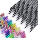 Arteza Feutres à pointes fines pour coloriage - Stylos Fineliner 0.4mm - 72 couleurs uniques - Encre à base d'eau - Lot de 72 de la marque ARTEZA® image 3 produit