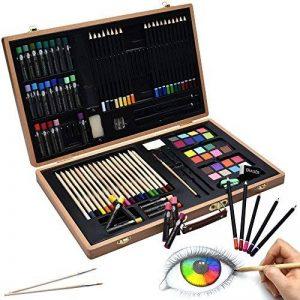 Artina A110 Coffret de peinture en bois Genova 89 pieces - Crayons à papier et de couleurs, aquarelle … de la marque Artina image 0 produit