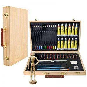 Artina - Boite Mallette pour artiste Leonardo - Ensemble complet de 45 pcs - Peinture acrylique, crayons, pastels de la marque Artina image 0 produit