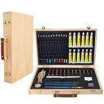 Artina - Boite Mallette pour artiste Leonardo - Ensemble complet de 45 pcs - Peinture acrylique, crayons, pastels de la marque Artina image 1 produit
