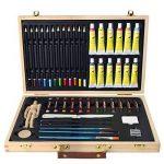 Artina - Boite Mallette pour artiste Leonardo - Ensemble complet de 45 pcs - Peinture acrylique, crayons, pastels de la marque Artina image 5 produit