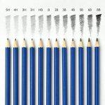 Artina Ensemble de dessin Bari de 33 pieces : crayons à papier, graphite et de couleurs avec plein d'accessoires dans un sac de transport de la marque Artina image 4 produit