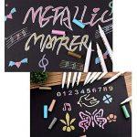 Audel Stylos marqueurs métalliques - jeu de 10 stylos de différentes couleurs métalliques assorties sur papier, verre, bois, poterie, céramique, fabrication de cartes et album photo bricolé, marqueurs de la marque Audel image 5 produit