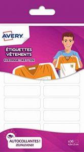 Avery 36 Etiquettes Vêtements - 45x13mm - Blanc (ETVET36) de la marque Avery image 0 produit