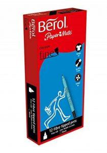 Berol ColourFine Feutres Fins - Noir (Lot de 12) de la marque Berol image 0 produit