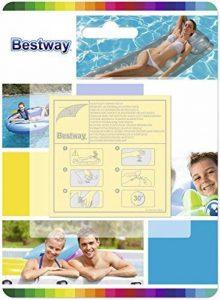 Bestway 10 Super Patchs de réparation, rustines matelas, bouées, piscines, spas gonflables - surface totale 42,3 cm2 de la marque Bestway image 0 produit