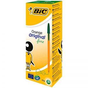 Bic 1199110113 Orange Original Stylos-Bille Pointe Fine - Vert, Boîte de 20 de la marque BIC image 0 produit