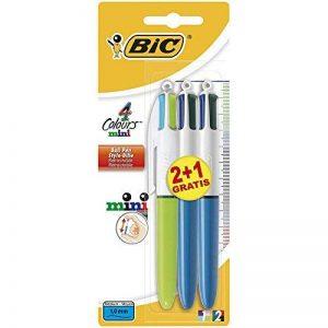 Bic 4 Colours Mini + Mini Fashion Pack de 3 Stylos-Bille rétractable pointe moyenne Multicouleur de la marque BIC image 0 produit