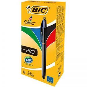 Bic 4 Colours Pro Stylo-Bille Gencodé Boîte de 12 Noir/Bleu/Rouge/Vert de la marque BIC image 0 produit