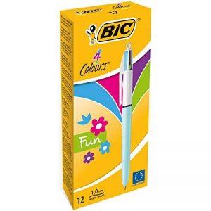 BIC 4 Couleurs Fun Stylos-Bille - Couleurs Fashion Assorties, Boîte de 12 de la marque BIC image 0 produit