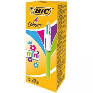 BIC 4 Couleurs Mini Stylos-Bille - Couleurs Fashion Assorties, Boîte de 12 de la marque BIC image 0 produit