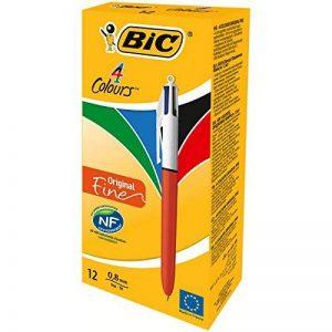 BIC 4 Couleurs Original Stylos-bille Pointe Fine - Boîte de 12 de la marque BIC image 0 produit