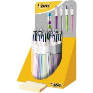 BIC 4 Couleurs Shine Stylos-Bille - Corps Métalliques Assortis, Pot à Stylos de 20 de la marque BIC image 0 produit