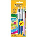 Bic 4 Couleurs Stylo-Bille Pack de 2 +1 Gratuit - Couleur Assortis de la marque BIC image 1 produit