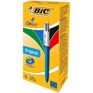 BIC - 8934642 - Original Stylos-bille - Boîte de 12 - Multicolore (noir/vert/rouge/bleu) - 1 mm de la marque BIC image 0 produit