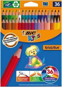 BIC 950526Kids Evolution Crayons de couleur–Couleurs assorties (Lot de 36) de la marque Bic Kids image 0 produit