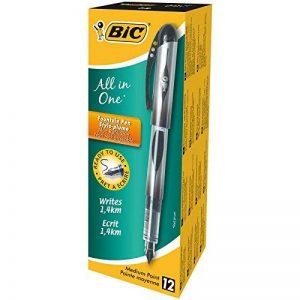 BIC All in One Stylos-plume - Noir, Boîte de 12 de la marque BIC image 0 produit