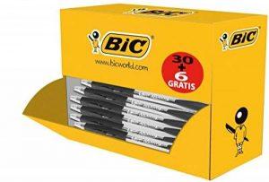 BIC Atlantis Classic Clip-on retractable ballpoint pen Noir 36pièce(s) - stylos à bille (Clip-on retractable ballpoint pen, Noir, Noir, Transparent, Plastique, 0,4 mm, ISO 12757-2) de la marque BIC image 0 produit