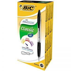 BIC Atlantis Classic Stylos-Bille - Noir, Boîte de 12 de la marque BIC image 0 produit