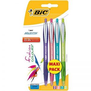 Bic Atlantis Fun Stylo-bille rétractable Couleurs Assorties Blister de 4 Maxi Pack de la marque BIC image 0 produit