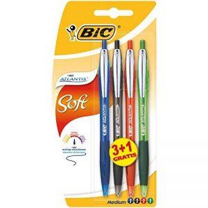 BIC Atlantis Soft Stylos-bille - Couleurs Assorties, Blister de 3+1 de la marque BIC image 0 produit