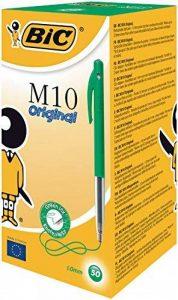 Bic Clic Medium Boîte de 50 Stylos-billes Vert de la marque BIC image 0 produit