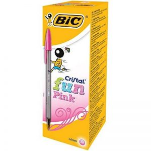 BIC Cristal Fun Stylos-bille - Rose, Boîte de 20 de la marque BIC image 0 produit