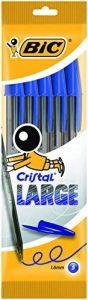 Bic Cristal Large Pochette de 5 Stylos-billes Bleu de la marque BIC image 0 produit