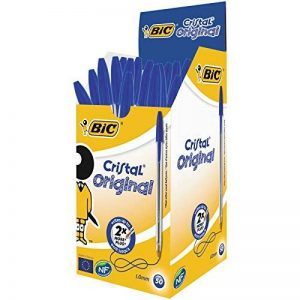 BIC Cristal Original Stylos-Bille - Bleu, Boîte de 50 de la marque BIC image 0 produit