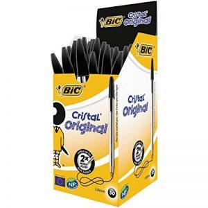 BIC Cristal Original Stylos-Bille - Noir, Boîte de 50 de la marque BIC image 0 produit