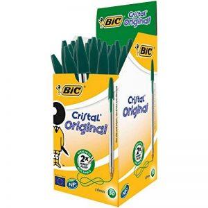 BIC Cristal Original Stylos-Bille - Vert, Boîte de 50 de la marque BIC image 0 produit
