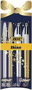 BIC Cristal Shine et BIC 4 Couleurs Shine Stylos-Bille Noël - Couleurs Assorties, Pochette de 4 de la marque BIC image 0 produit