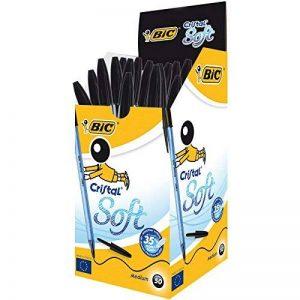 BIC Cristal Soft Stylos-Bille - Noir, Boîte de 50 de la marque BIC image 0 produit
