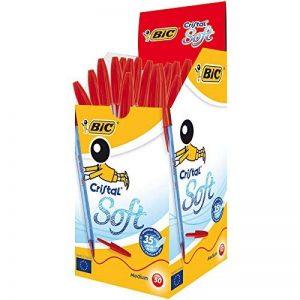 BIC Cristal Soft Stylos-bille - Rouge, Boîte de 50 de la marque BIC image 0 produit