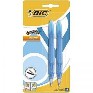 Bic EasyClic Stylo plume Assortiment de couleurs Lot de 2 de la marque BIC image 0 produit