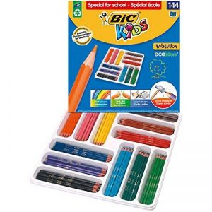 BIC Kids Evolution ECOlutions Crayons de Couleur - Classpack de 144 de la marque Bic Kids image 0 produit