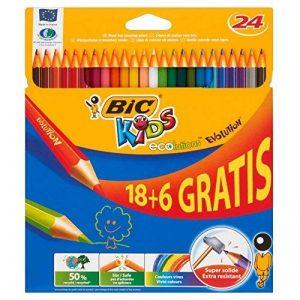 BIC Kids Evolution ECOlutions Crayons de Couleur - Etui Carton de 18+6 de la marque Bic-Kids image 0 produit