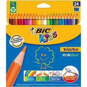 BIC Kids Evolution ECOlutions Crayons de Couleur - Etui Carton de 24 de la marque Bic Kids image 0 produit