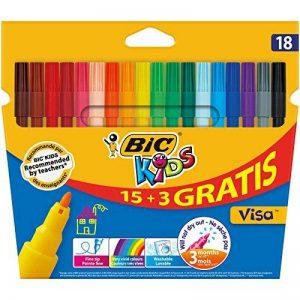 BIC Kids Visa Feutres de Coloriage - Etui Carton de 15+3 de la marque Bic Kids image 0 produit