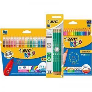BIC Kit Rentrée des Classes - Pack de Coloriage de 18 Feutres/18 Crayons de Couleur/8 Crayons Graphite HB de la marque BIC image 0 produit