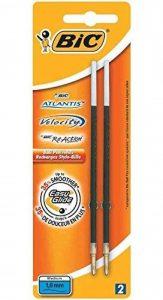 BIC Lot de 6 Blisters de 2 Recharges Pte Moy. 1 mm Bleue pour Stylo bille ATLANTIS SOFT de la marque BIC image 0 produit