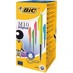 BIC M10 Original Stylos-Bille - Corps Couleurs Fashion Assortis, Encre Bleue, Boîte de 50 de la marque BIC image 0 produit