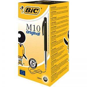 BIC M10 Original Stylos-bille - Noir, Boîte de 50 de la marque BIC image 0 produit