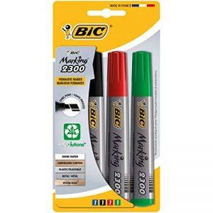 BIC Marking 2300 Ecolutions Marqueurs Permanents - Couleurs Assorties, Blister de 4 de la marque BIC image 0 produit