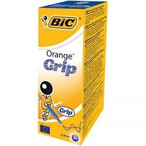 BIC Orange Grip Stylos-bille Pointe Fine - Bleu, Boîte de 20 de la marque BIC image 0 produit