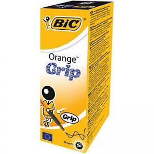 BIC Orange Grip Stylos-bille Pointe Fine - Noir, Boîte de 20 de la marque BIC image 0 produit